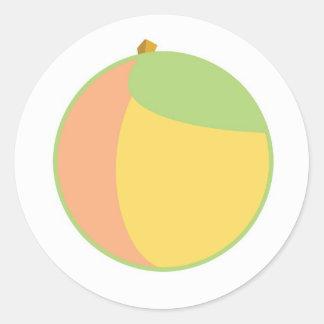 Just Peachy Round Sticker