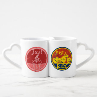 Just Ride His and Hers Cycling Lovers Mug Set