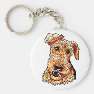 Just the Airedale Terrier Basic Round Button Key Ring