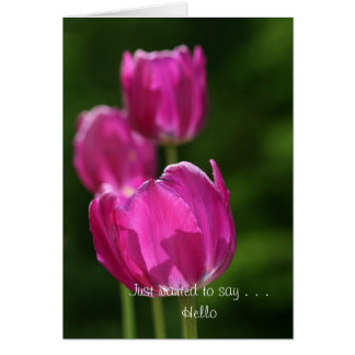Just to say . . . Hello Greeting Card