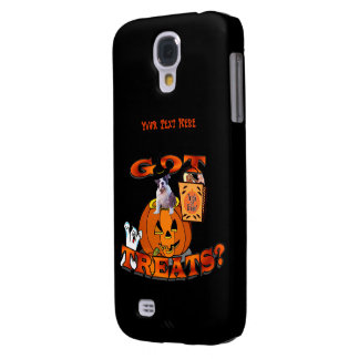 Just Too Cute Bulldog Puppy Peeking Out of Pumpkin Galaxy S4 Case