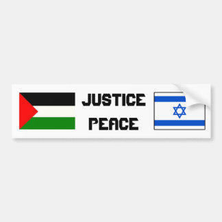 Justice and Peace in Israel-Palestine. Bumper Sticker