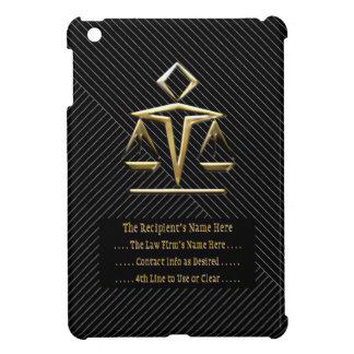 Justice in Pinstripes v2 (Personalized) iPad Mini Cover