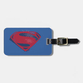 Justice League | Brush & Halftone Superman Symbol Luggage Tag