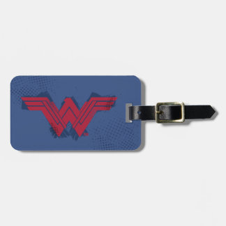 Justice League | Brushed Wonder Woman Symbol Luggage Tag