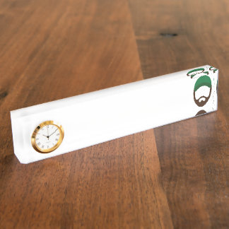 Justik Clock Nameplate