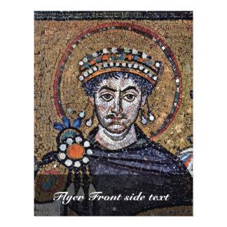 Justinian I, San Vitale (Ravenna) Choir Mosaics A 21.5 Cm X 28 Cm Flyer