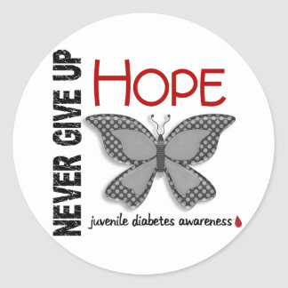 Juvenile diabetes butterfly gifts t shirts art posters for Stickers juveniles