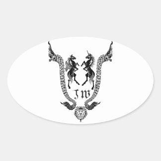 JW Thailand Buddha Oval Sticker