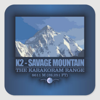 K2 -The Savage Mountain Square Sticker