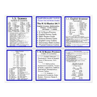 K-12 Basics 24/7 - Crash Course - Pocket Pamphlet 21.5 Cm X 28 Cm Flyer