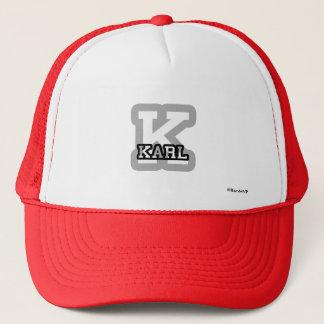 K is for Karl Trucker Hat