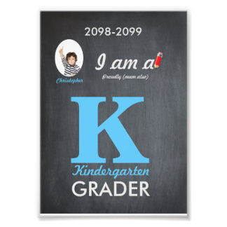 K kindergarten photo,low price,Chalkboard,frame it Photo Print