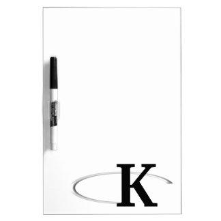 K Ring Dry Erase Board