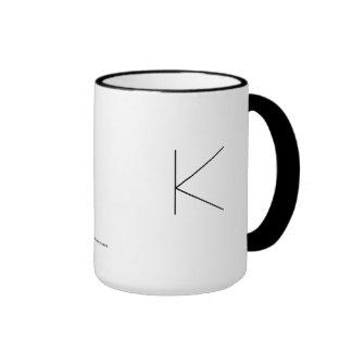 K THE MINIMALIST VIEW COFFEE MUG