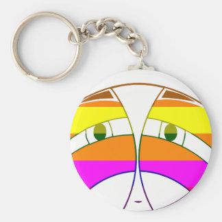 KA Face 2  Rainbow Basic Round Button Key Ring