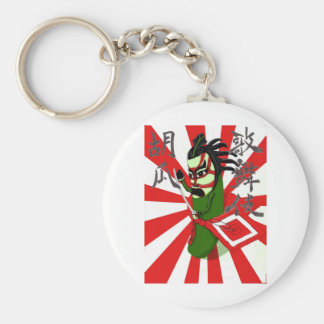 Kabuki Cucumber 1 Basic Round Button Key Ring