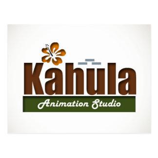 Kahula Animation Flower Design Postcards