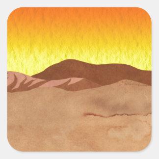 Kalahari Desert Square Sticker