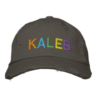 KALEB Colorful Embroidered Name on Hat Baseball Cap