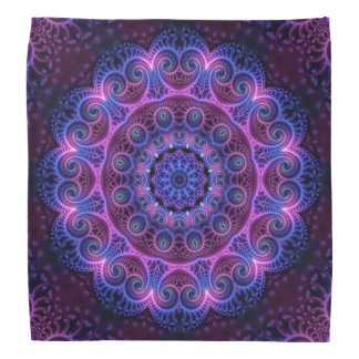 Kaleidoscope Apophysis Mandala Hearts Bandana