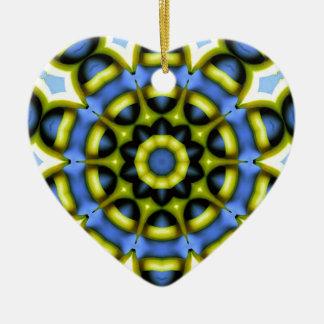 Kaleidoscope Decoration Blue Yellow