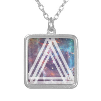 Kaleidoscope Dream Life Hypnotic Square Pendant Necklace