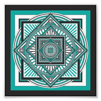 Kaleidoscope GREEN Photo Art