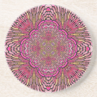 Kaleidoscope in Pink Sandstone Coaster (v.1)