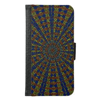 Kaleidoscope mosaic samsung galaxy s6 wallet case