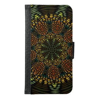 Kaleidoscope mosaic tile samsung galaxy s6 wallet case