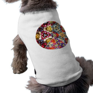 Kaleidoscope Peace Sign Dog Shirt