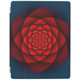 Kaleidoscope ROSE red iPad Cover