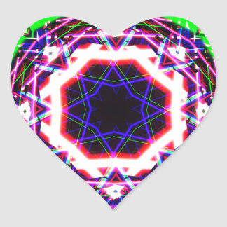 Kaleidoscope Shatters Prism Rainbow Heart Sticker