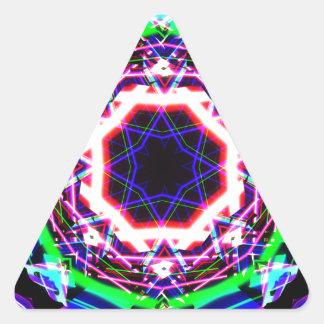 Kaleidoscope Shatters Prism Rainbow Triangle Sticker