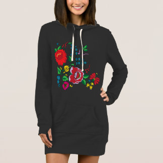 Kalocsa Embroidery Women's Hoodie Dress