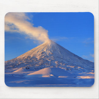 Kamchatka active volcano at sunrise mouse pad