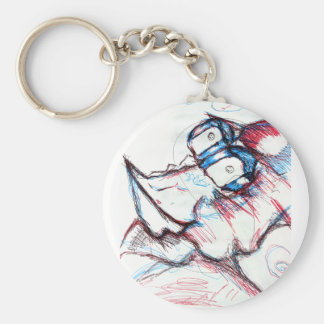 Kami Touched Basic Round Button Key Ring