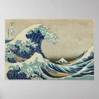 Kanagawa Wave by Katsushika Hokusai Posters