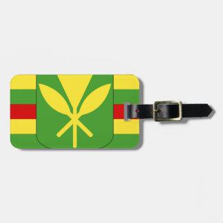 Kanaka Maoli Flag - Hawaiian Independence Flag Luggage Tag