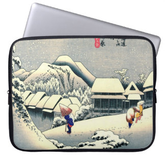 Kanbara Station Tokaido Road 1833 Laptop Sleeve