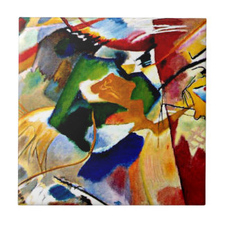 Kandinsky - Painting with Green Centre Tile