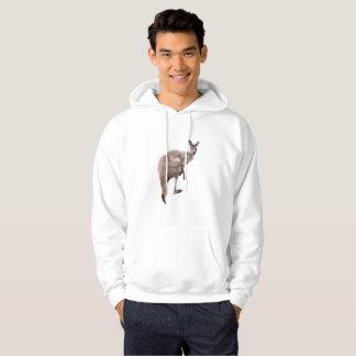 Kangaroo_Lookout,_Mens_White_Hoodie Hoodie