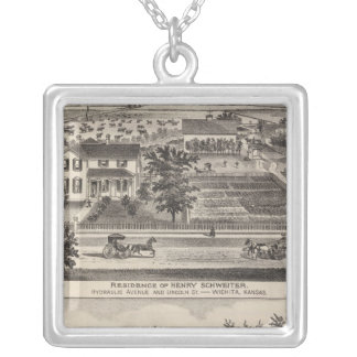 Kansas 7 silver plated necklace