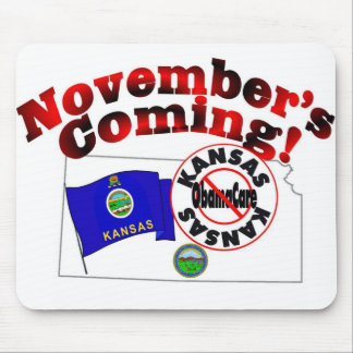 Kansas Anti ObamaCare – November's Coming! Mouse Pad