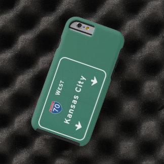 Kansas City KC Missouri Interstate Highway Freeway Tough iPhone 6 Case