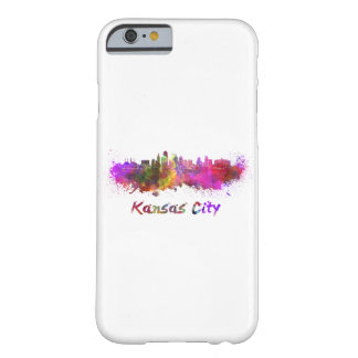 Kansas City skyline in watercolor Barely There iPhone 6 Case