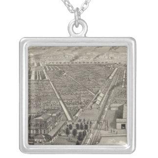 Kansas City Stock Yards, Kansas City, Kansas Silver Plated Necklace