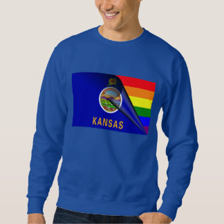 Kansas Flag Gay Pride Rainbow Sweatshirt