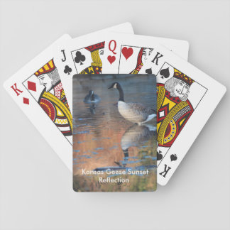 Kansas Geese Sunset Reflection Playing Card's Playing Cards